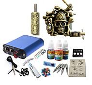 Kit basekey tatuaggio jh569 1 macchina con prese di alimentazione 3x10ml di inchiostro