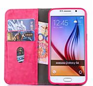 carteira de luxo tampa da caixa de couro com entalhe da foto saco de telefone estilo suporte para Samsung Galaxy S7 / S7 borda