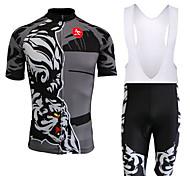 Set di vestiti/Completi-Ciclismo-unisex-Maniche corte-Asciugatura rapida / Anti-polvere / Antivento / Pad 3D / Morbido / Materiali leggeri