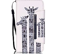 For Samsung Galaxy Case Card Holder / with Stand / Flip / Pattern / Magnetic Case Full Body Case Animal PU Leather Samsung A3(2016)