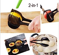 Hand-held Lemon Onion Tomato Fruit Slicer Chopper Cutter Food Clips Kitchen Tool