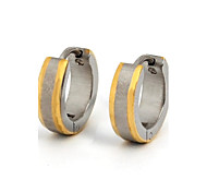 Hoop Earrings Stainless Steel Titanium Steel Gold Plated Fashion Gold/Silver Jewelry Daily Casual Sports 1 pair