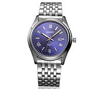 Men's Watch LAGMEEY Leisure Hollow 50 Meters Waterproof Strip Automatic Calendar Watch Wrist Watch Cool Watch Unique Watch