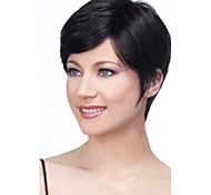 2015 New Black Lady Straight Short synthetic hair wigs For Women
