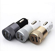 2.1A 1.0A Aluminum 2 USB Ports Universal USB Car Charger For Phone 5 6 6 Plus For ipad 2 3 4 5 For