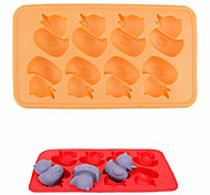 Silicone Cartoon Duck Shape  Ice Mould  Ice Cubes Tray Pudding Jelly Mold (Random Color)