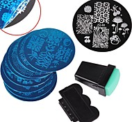 10 Nail Plates +1 Stamper + 1 Scraper Nail Art Image Stamp Stamping Plates Manicure Template Nail Art Tools