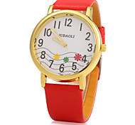 Women's Lovely Design PU Band Quartz Watch