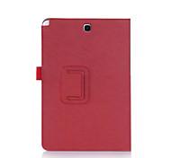 voor de Samsung Galaxy Tab a9.7 inch tablet p550 lederen staan folio case cover (elastische draagriem, kaarthouder)