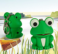 Mini Cartoon Frog Toy Keychain Animal LED Flashlight with Sound (Random Color)