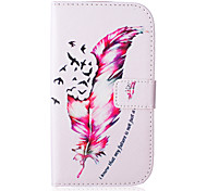 Feather Pattern PU Leather Case with Money Holder Card Slot for Galaxy Grand Neo/Galaxy Grand Prime/Galaxy Core Prime