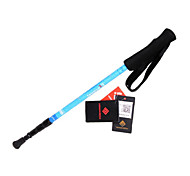 KORAMAN Unisex Trekking Pole Three Section Ultralight Aluminum Alloy  Walking Hiking