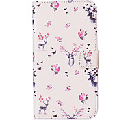 Flower Deer Pattern Embossed PU Leather Case for Sony Xperia Z5/ Xperia Z5 Compact