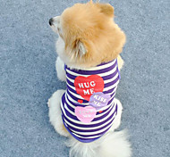 Comfortable Breathability Color Stripe Pet T-Shirt