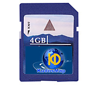 tarjeta de felicitaciones mapa del GPS, con tarjeta SD estándar de 4gb