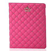 Newest Fashion Crown PU Leather Tablet Case Stand Cover For iPad Air 2 (Assorted Colors)