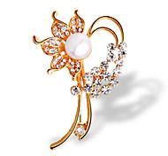 Fashion 18K Color Gold Crystal Brooch