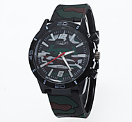 2016 New Arrival Unisex Camouflage Wristwatch With Special Silicone Stripe Strap