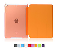 PU Leather Cover Hard Translucent  Wake Up Smart Case for iPad Air