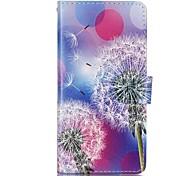 Dandelion Pattern Magnetic Flip Wallet PU Leather Phone Case for Huawei P9