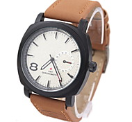 Herrenmode bereift Leder Armbanduhren