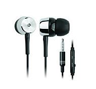 ip-106 in-ear música conector de 3,5 mm + de respuesta de llamada del auricular w / micrófono para iPhone 4 / 4S - negro