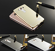Luxury Ultra Slim Bling Metal Aluminum Alloy Frame Mirror Acrylic Plastic Back Cover Case For LG V10