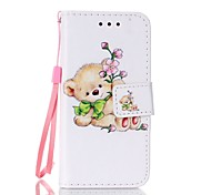 Bear Painted PU Phone Case for iphone5SE
