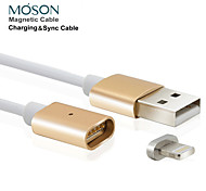 2.4a new metal usb 8pin magnética cobrando cabo do carregador para Apple iPhone 5 5s 6 6s vantagem para ipad ipod touch 5 6