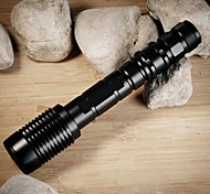 LS1772 ZK60 4000 Lumens Outdoor 5-Modes CREE XM-L T6 LED  Zoomable Focusing Flashlight Torch Light