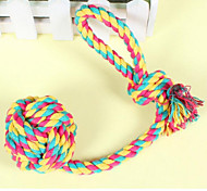 Dog Toy Pet Toys Chew Toy / Interactive Rope Textile Multicolor