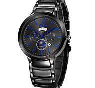 Men's Fashion Watch High-Grade Tungsten Steel Rose Gold Quartz Watch With a Waterproof Black Gold (Assorted Colors)