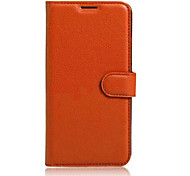 For Asus Case Card Holder / with Stand / Flip Case Full Body Case Solid Color Hard PU Leather ASUS