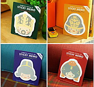 Lovely Palace Series Self-stick Notes(1 PCS Random Color)