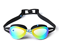 YUKE Swimming Goggles Women's / Men's / Unisex Anti-Fog / Anti-Wear / Adjustable Size Silica Gel PCYellow / Red / Pink / Black / Blue /