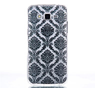 Palace Flower Pattern Black Printing Transparent TPU Material Phone Case for Samsung Galaxy G360/G530