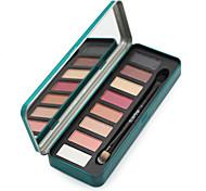 8 Paleta de Sombras de Ojos Seco / Brillo Paleta de sombra de ojos Polvo NormalMaquillaje de Diario / Maquillaje de Halloween /