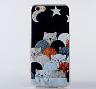 The New Cat Like Fish TPU Smiling Face Back Cover for iPhone 5/5S(Assorted Colors)