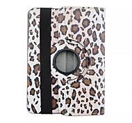 For Samsung Galaxy Case with Stand / Flip / 360° Rotation / Pattern Case Full Body Case Leopard Print PU Leather Samsung Tab S2 8.0