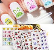 1pcs Nail Watermark Stickers