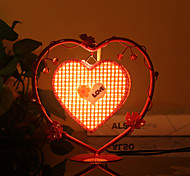 Creative Peach Heart Lamp Bedroom Bedside Lamp Lighting Lamps of European Romantic Personality Gift(Assorted Color)