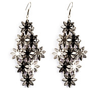 European Style Gold/Silver Flower Earrings Jewelry for Women