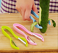 Double-sided Planer knives Cutter Asparagus peelers Peel Vegetable Fruit Potato Peeler(Random Color)