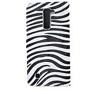 Zebra Pattern Magnetic PU Leather wallet Flip Stand Case cover for LG K7 LG Tribute 5