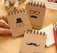 1PC Mr Mustache Beard Series Coil Notebook(Style random)