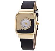 Women's Wrist Watch Elegant Rectangular Diamond Leather Belt Quartz Watch (Assorted Colors) Cool Watches Unique Watches
