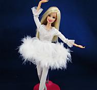 Informal Vestidos por Muñeca Barbie Blanco Vestidos Para Chica de muñeca de juguete