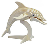 Dolphins Wood 3D Puzzles Diy Toys