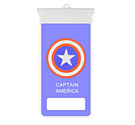 Cartoon United States Captain Icon Mobile Phone Waterproof Bag