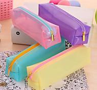 Never Deformation Bulk Candy Color Transparent Pencil Pencil Box Jelly Cute Simple  Pen Boxes